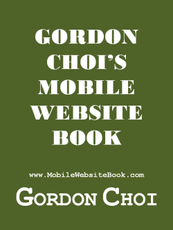 Gordon Choi's Mobile Website Book Cover